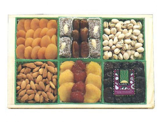 Dried Fruit & Nut Crate-Kosher Gift Tray