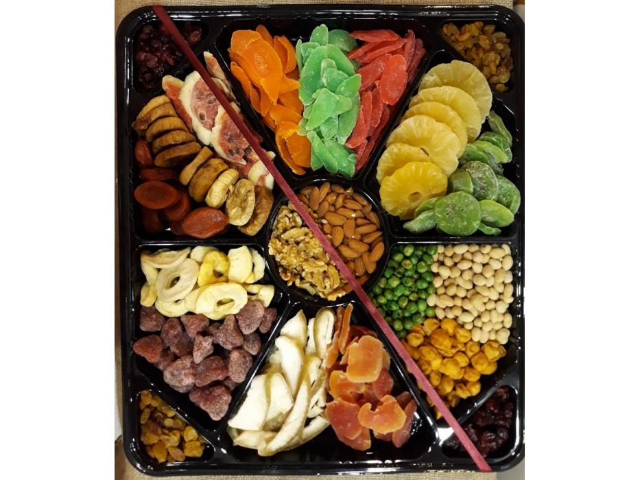 Dried Fruits Sushi Platter