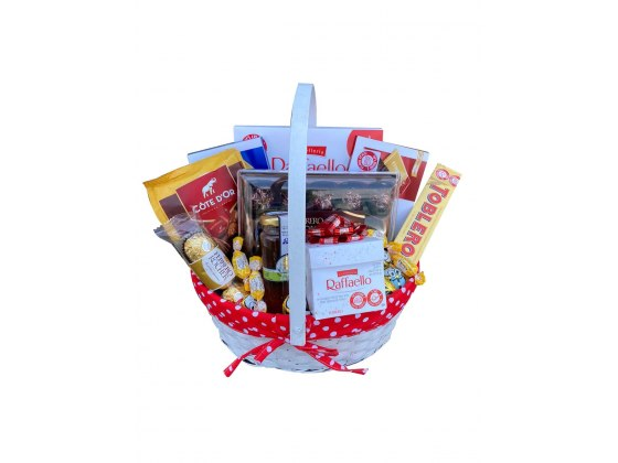 Large Red New Year Gift Basket
