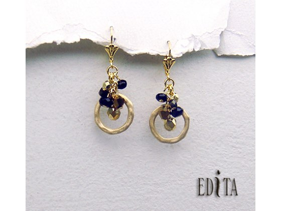 Edita - Celebration Black -  Handcrafted Israeli Earring