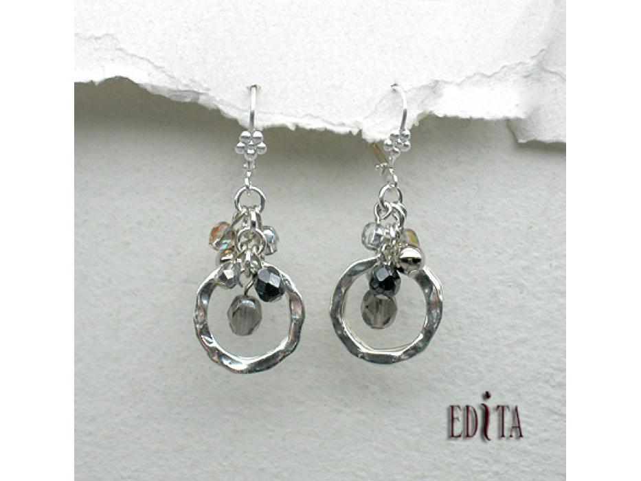 Edita Celebration Silver Handcrafted Israeli Earrings