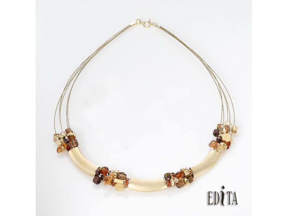 Edita - Golden Cleopatra - Handcrafted Israeli Necklace