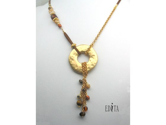 Edita - Golden Flair- Handcrafted Israeli Necklace