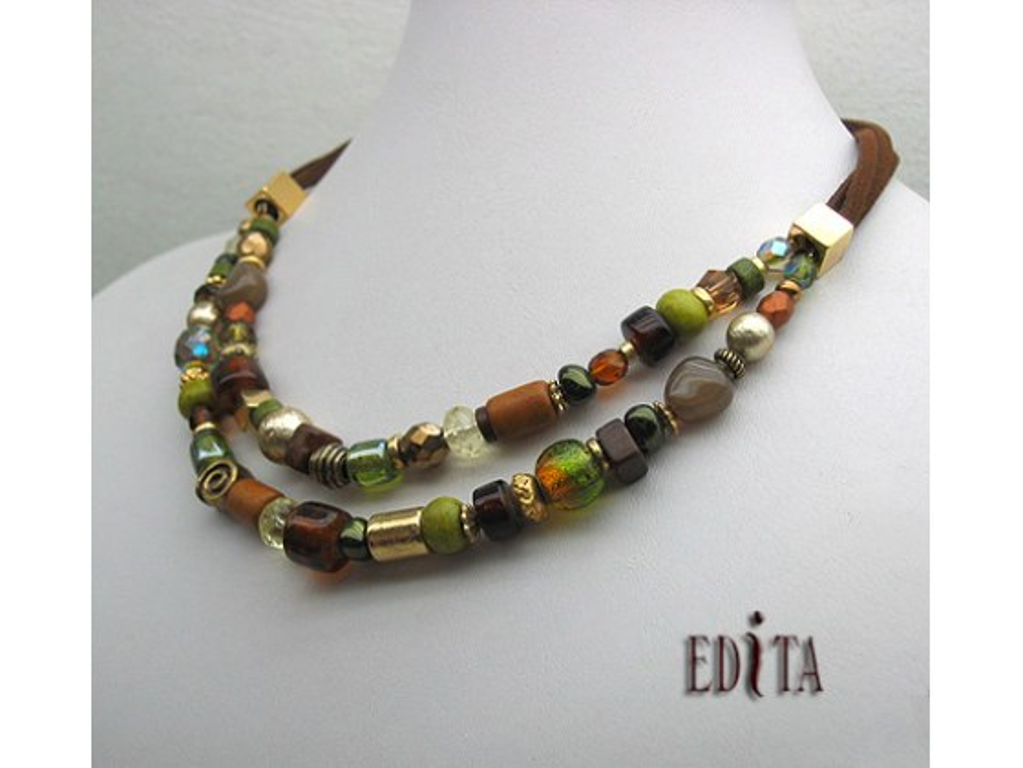 Edita - Mocha Mate - Handcrafted Israeli Necklace