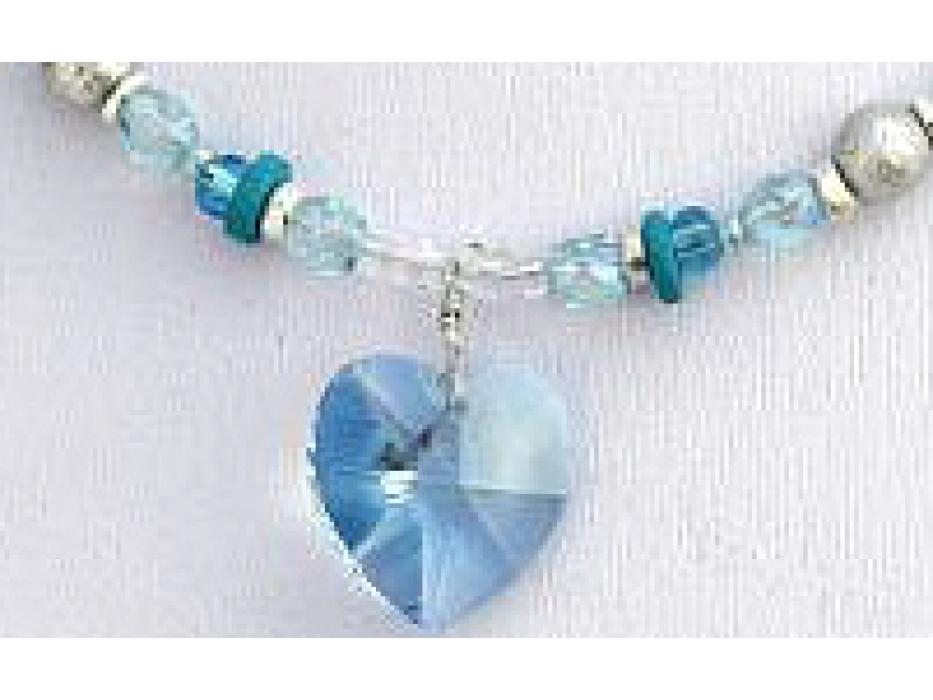 Edita - Pure Heart (Aqua) - Israel Necklace