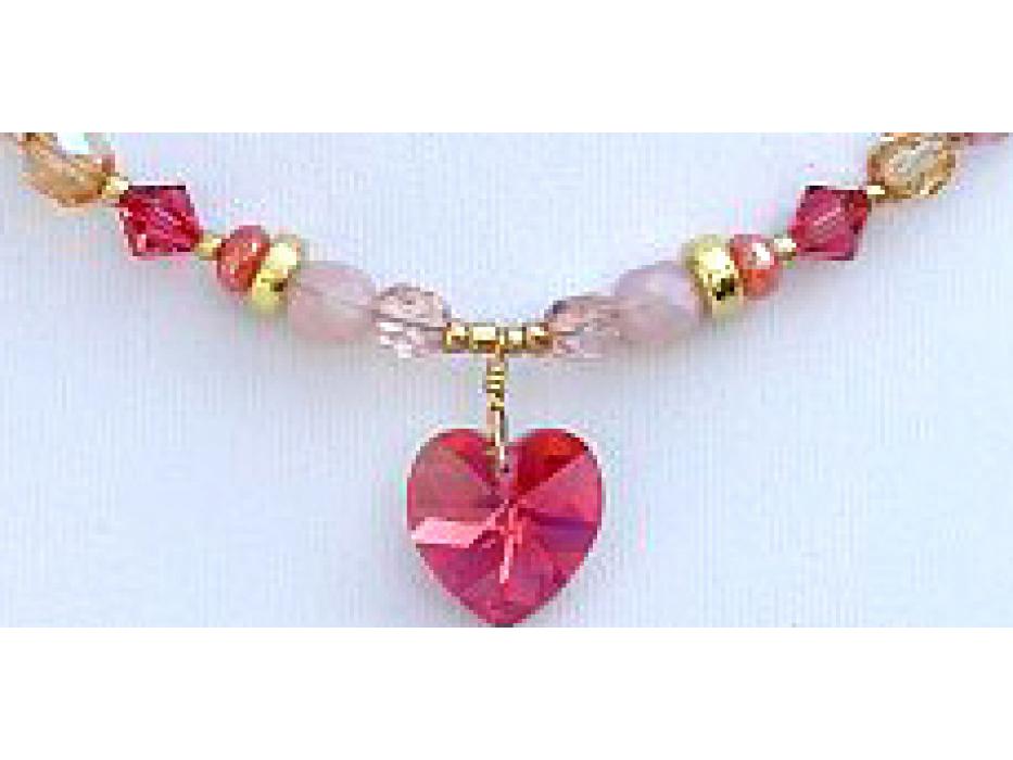 Edita - Pure Heart (Coral) - Israel Necklace