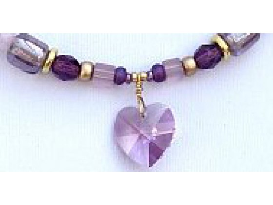 Edita - Pure Heart (Lavender) - Israel Necklace