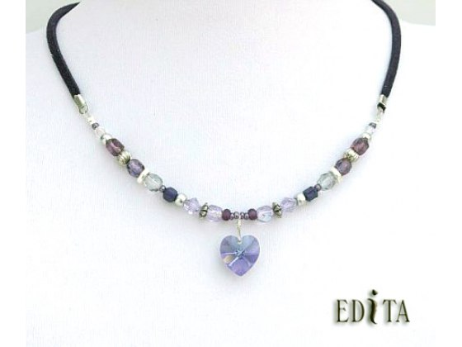 Edita - Pure Heart (Purple) - Israel Necklace