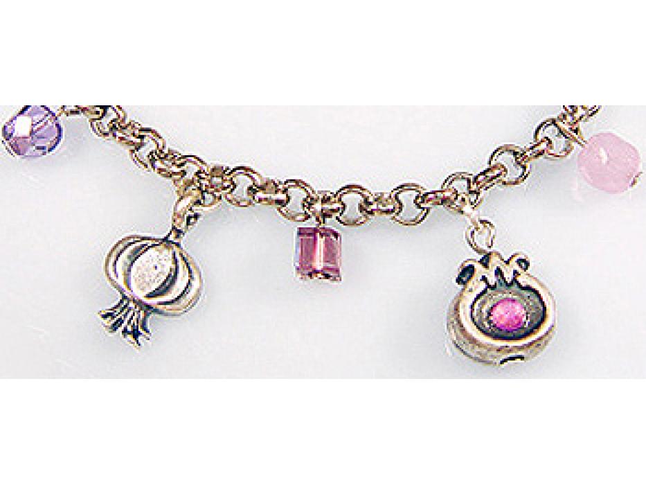 Buy Edita - Purple Charms - Handcrafted Israeli Bracelet