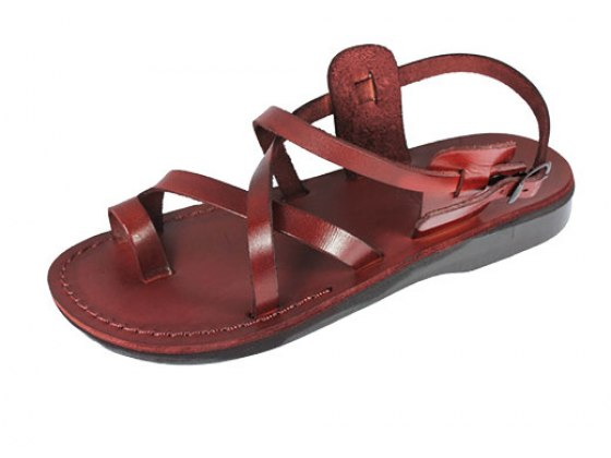 Elegant Crisscross hand-made Leather Sandals - Naomi