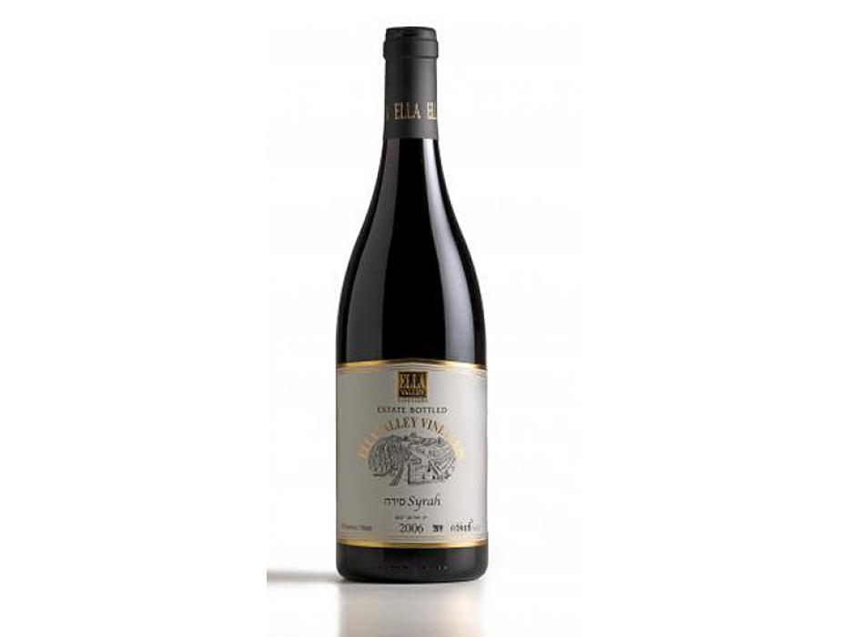 Ella Valley Vineyards Boutique Israeli Wine - Syrah 2006. Set  of 2