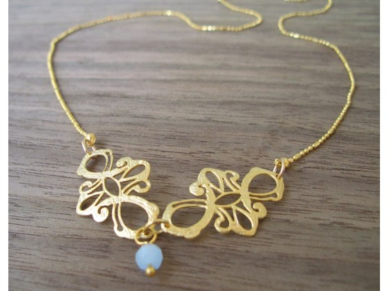 Emma Necklace in Matte Gold - Shlomit Ofir Jewelry