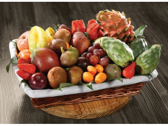 Exotic Magic Basket of Fresh Cut Fruit  (Israel)