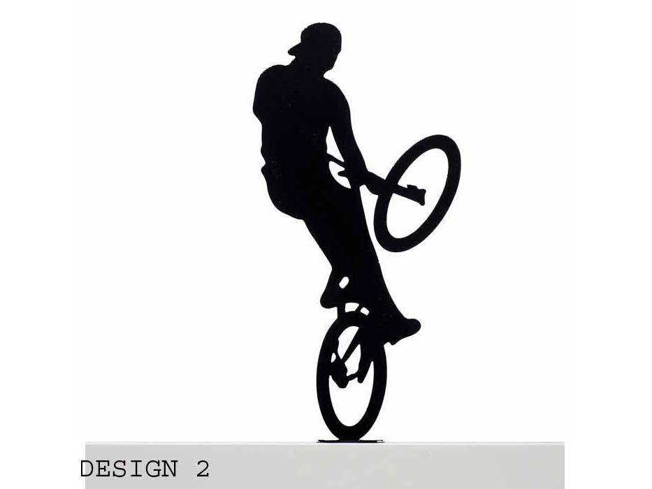 Extreme Bike Rider Metal Sculpture, Home Accessories - Design 2