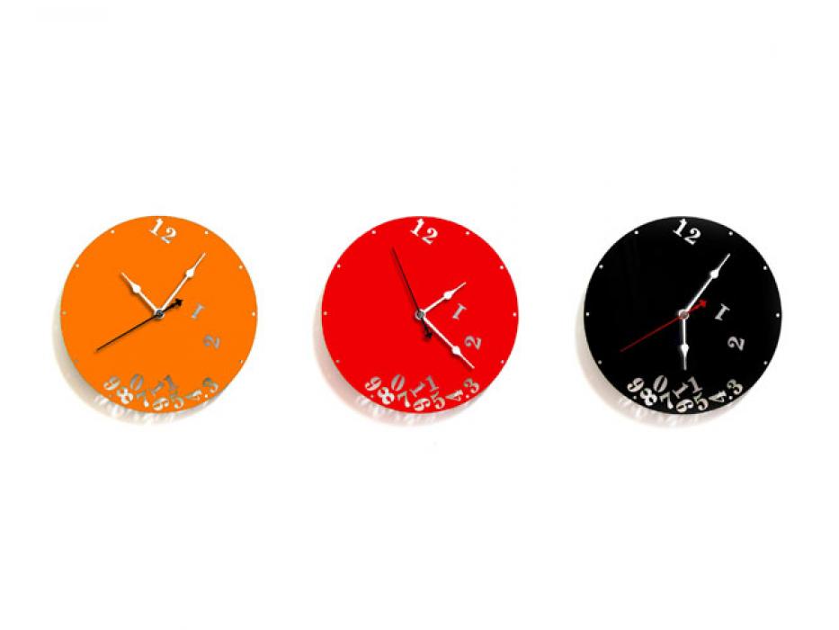 Falling Numbers Wall Clock by Peleg Designs