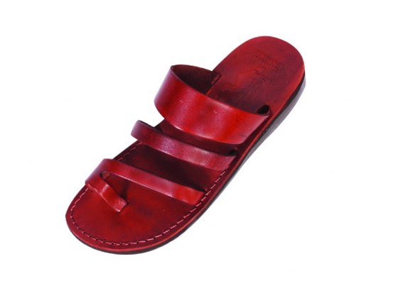 Fisherman Style Slip on Leather Sandals - Avital