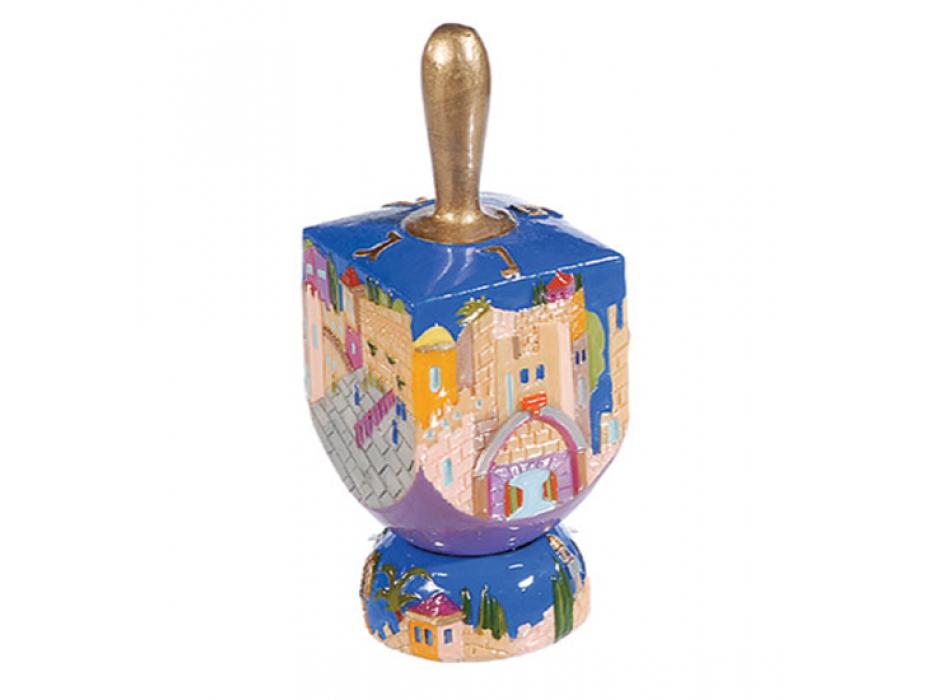 FREE Ceramic Hanukkah Dreidel with Stand: Modern Jerusalem, Yair Emanuel
