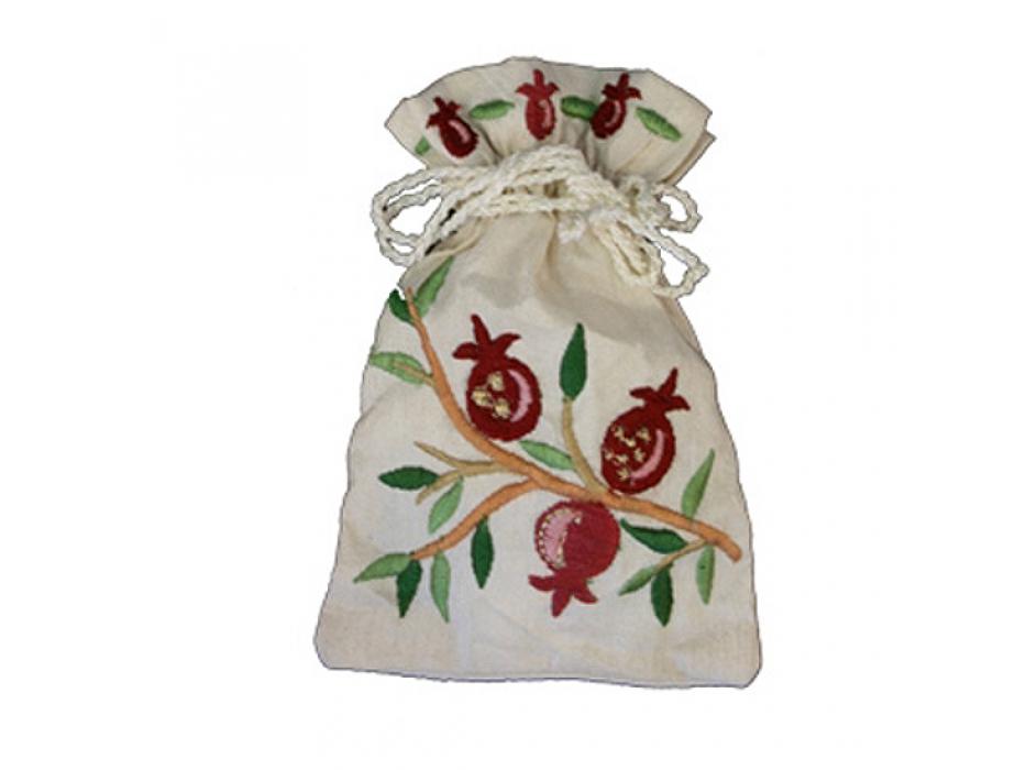 FREE Yair Emanuel Embroided Havdala Spice Bag - Pomegranates