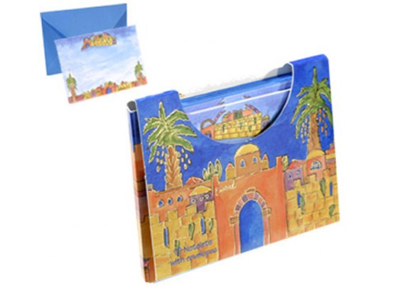FREE Yair Emanuel Note cards & Envelope - Boxed Set of 10 - Jerusalem
