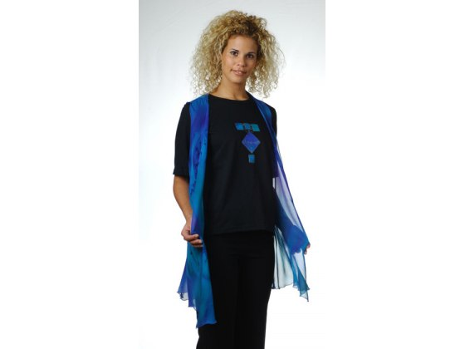 Galilee Silk - Geometric T-Shirt and Silk Vest