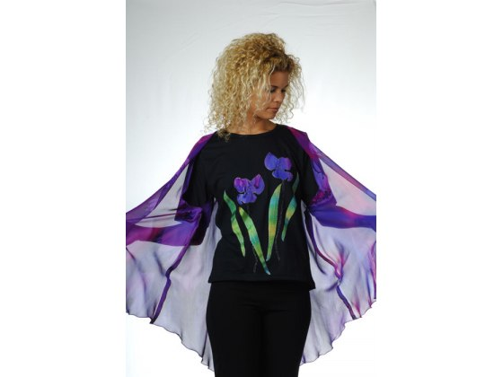 Galilee Silk - Two Irises T-Shirt and Silk Vest