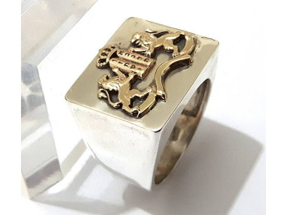 Silver and Gold Ten Commandments Ring