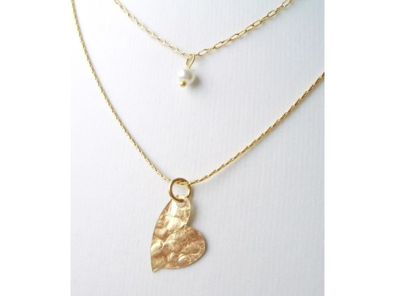 Gold Filled Heart Necklace - Shlomit Ofir Jewelry