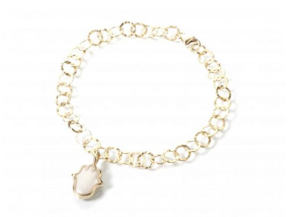 Gold Hamsa Bracelet by Adina Plastelina