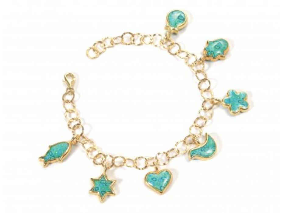 Gold Seven Blessings Bracelet by Adina Plastelina