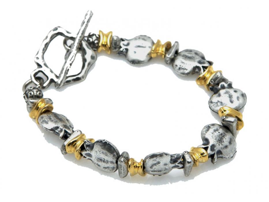 Gold & Silver Pomegranates, Israeli Bracelet