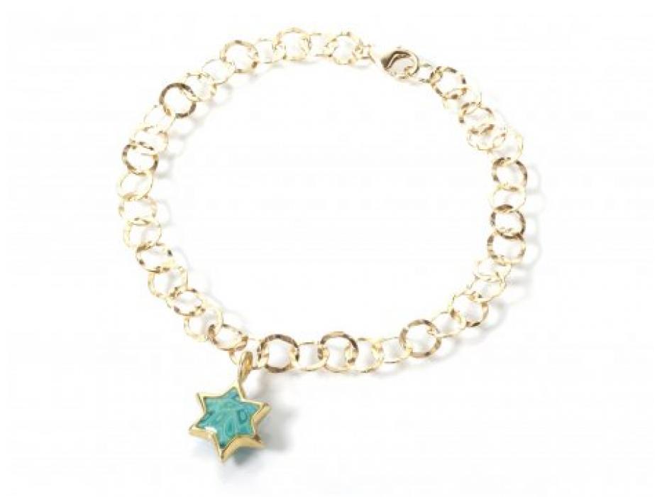 Gold Star of David Bracelet by Adina Plastelina