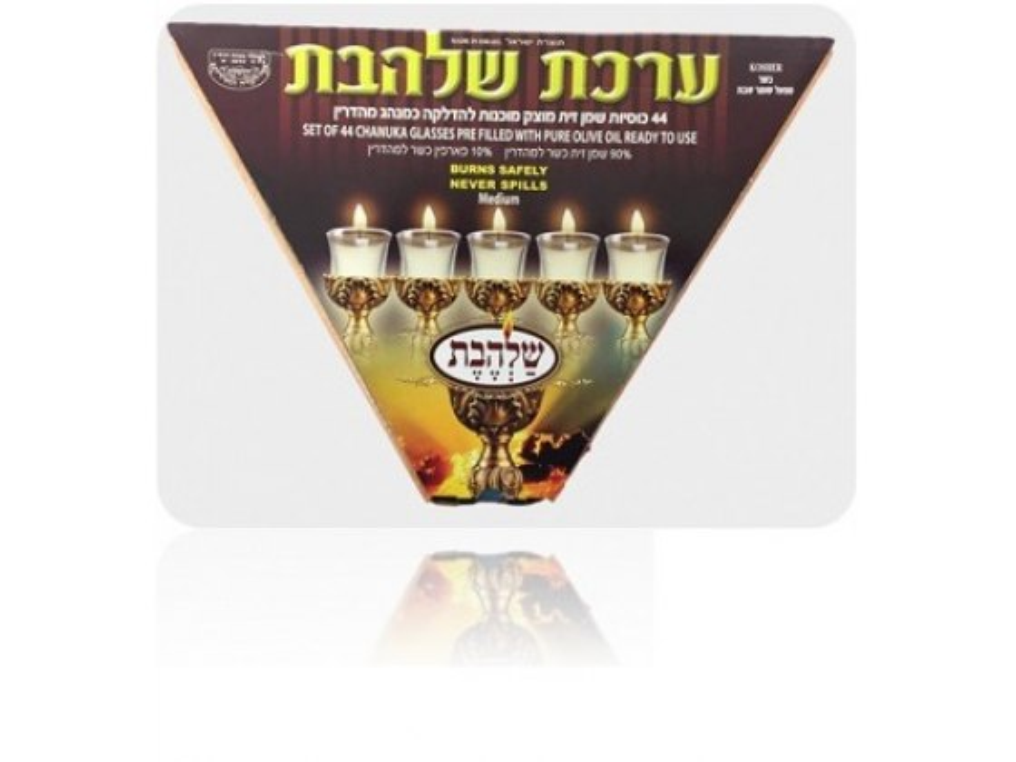 Gray Shamash and Violet 8 Star of David Line Hanukkah Menorah