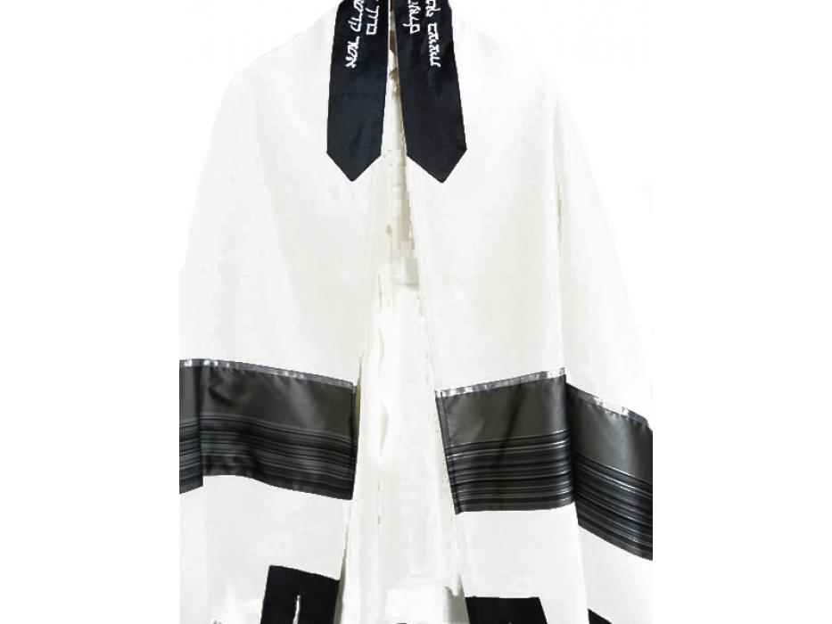 Grey Tallit Prayer Shawl by Galilee Silks