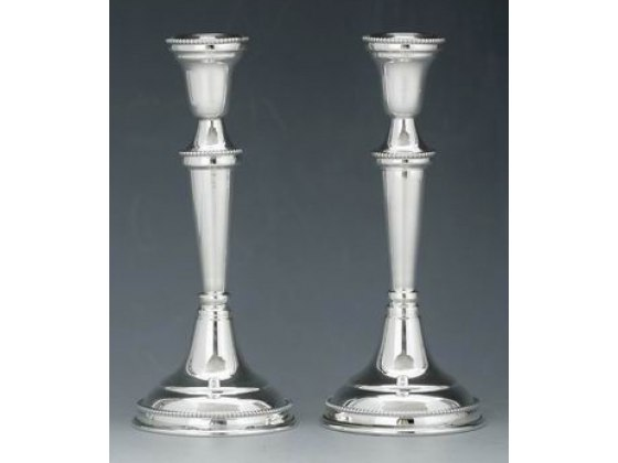 Hadad Sterling Silver Candlesticks - Simply Elegant Round Base