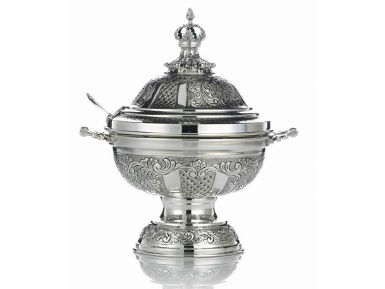 Hadad Sterling Silver Covered Honey Dish  - Crowning Majesty