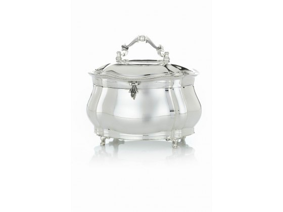 Hadad Sterling Silver Etrog Box - Simply Elegant Rounded Curves