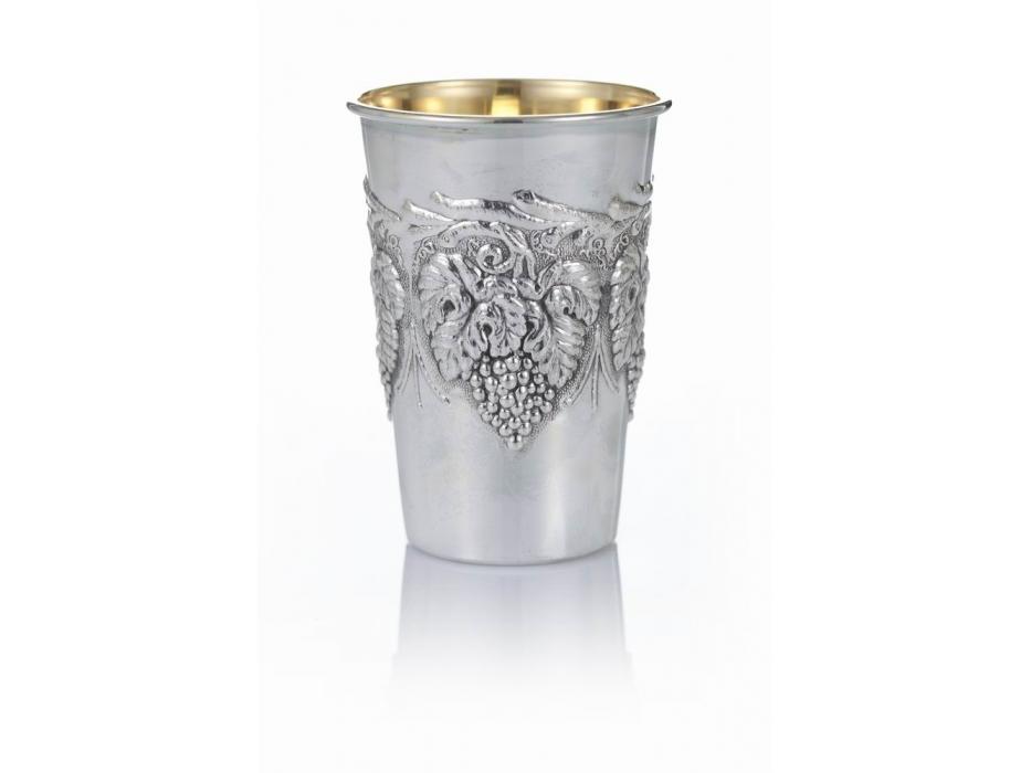 Hadad Sterling Silver Kiddush Cup - Grapevine Pattern