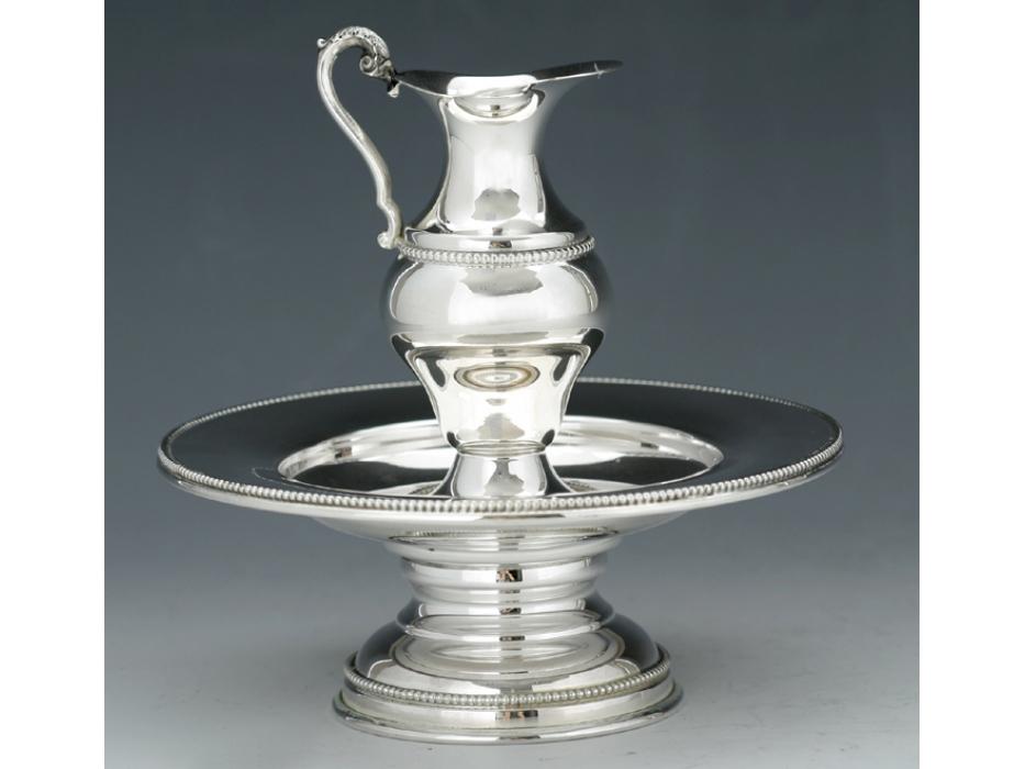 Hadad Sterling Silver Mayim Achronim Set - Delicate Filigree Trim