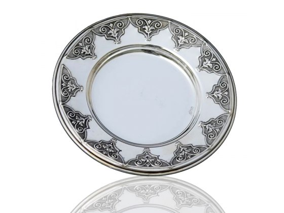 Buy Hadad Sterling Silver Saucer - Arabesque Design