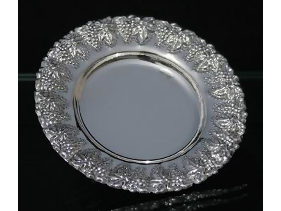 Hadad Sterling Silver Saucer - Grape Bunches