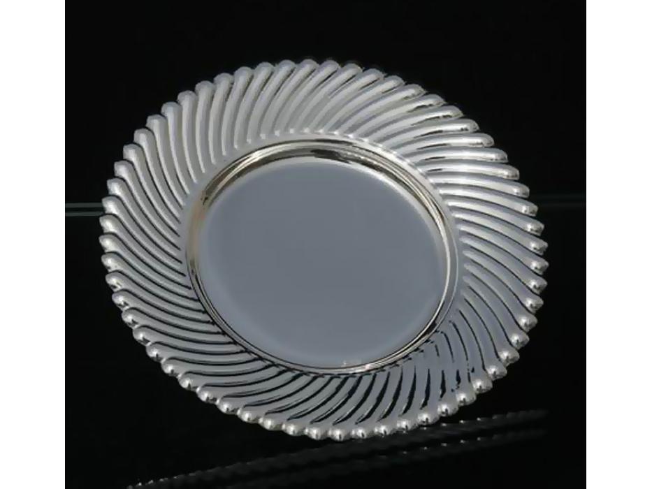 Hadad Sterling Silver Saucer - Simply Elegant Swirls