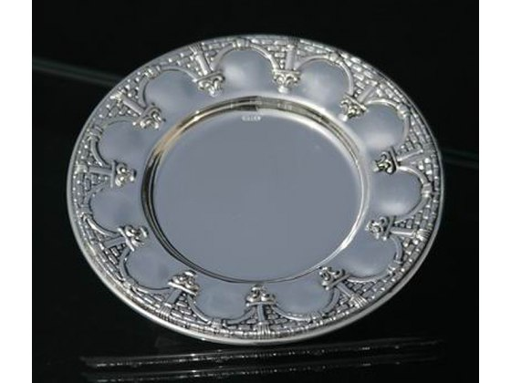 Hadad Sterling Silver Saucer - Stone Archways