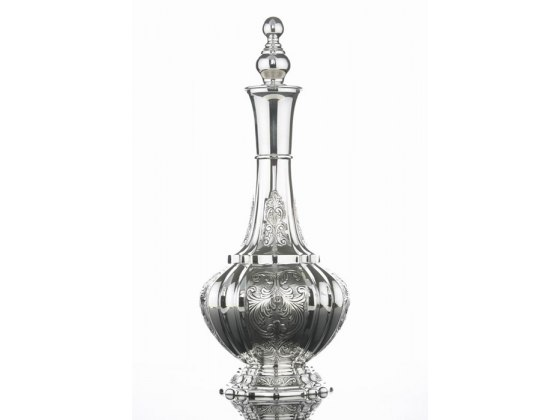 Hadad Sterling Silver Wine Decanter -Toscana Floral Panels