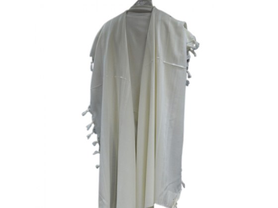 Hamefoar Wool with White Stripes, Tallit