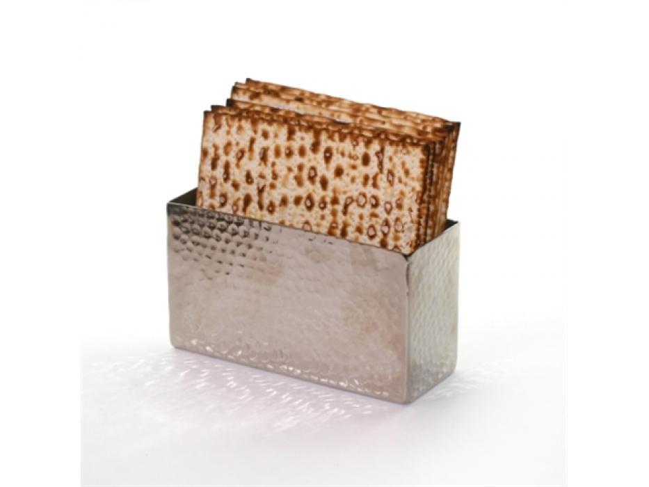 Hammered Silver Upright Matzah Holder