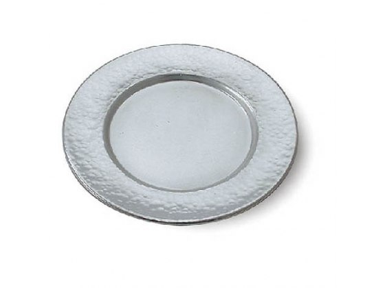 Hammered Sterling Silver Saucer