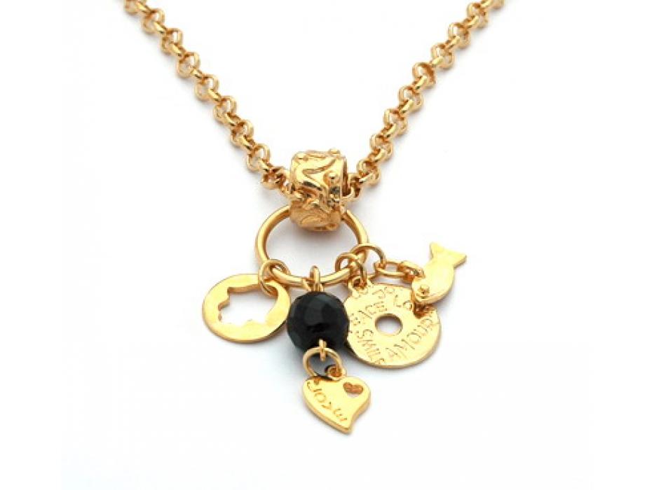 Hamsa Love & Fish Necklace