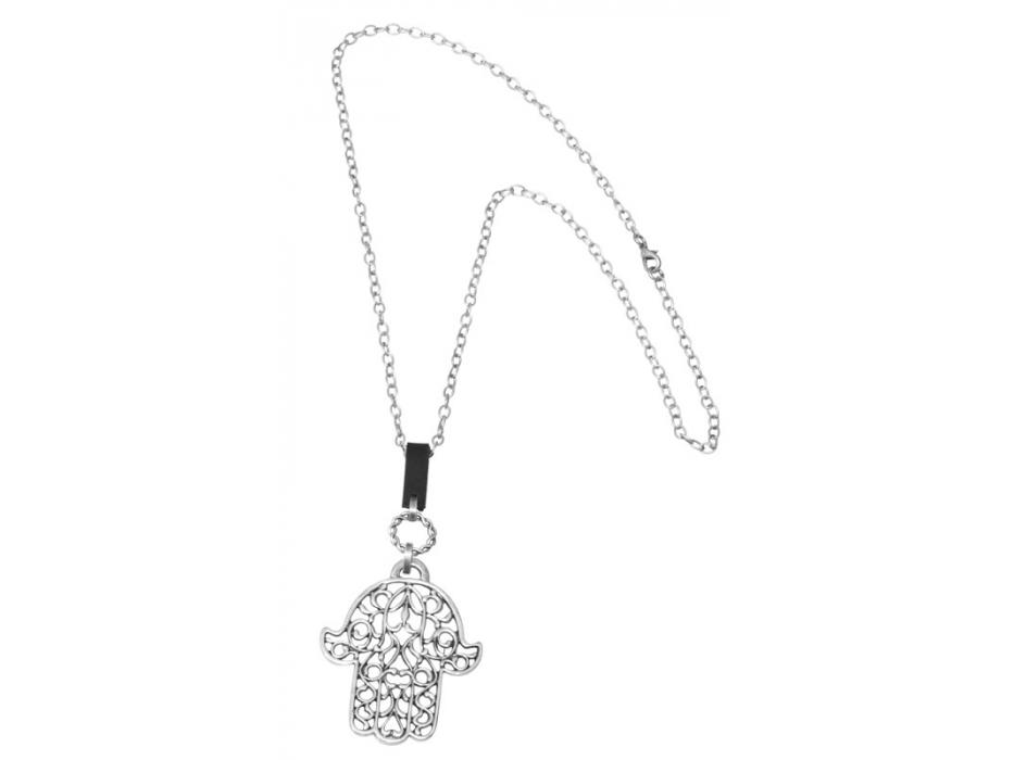 Silver Plated Filigree Design, Hamsa Necklace