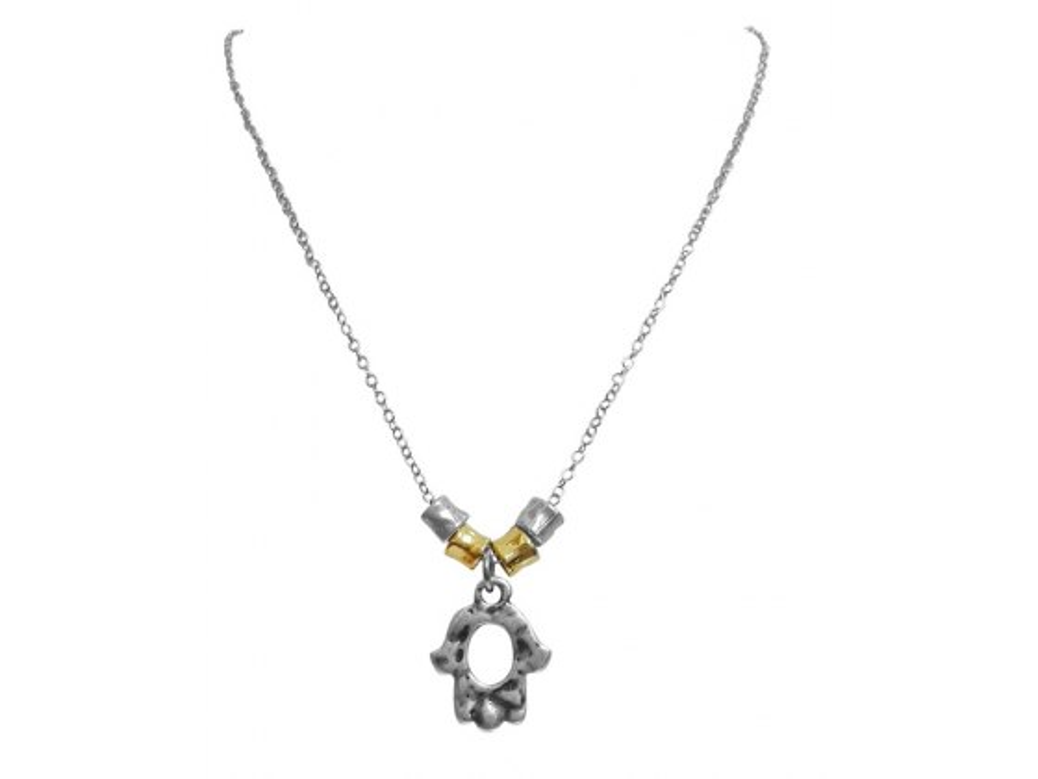Stylish Silver Plated, Hamsa Necklace