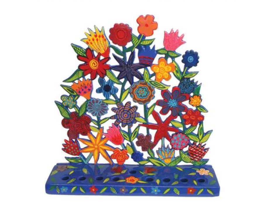 Flowery Hanukkah Menorah